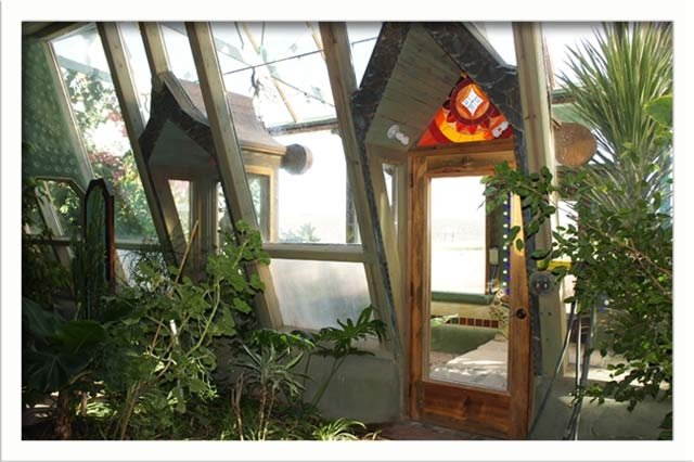 The greenhouse from inside the home