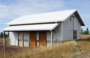 loft area in barn