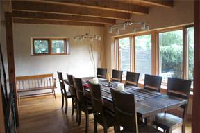 Portland eco-friendly dining room