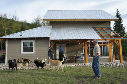 off grid timberframe home