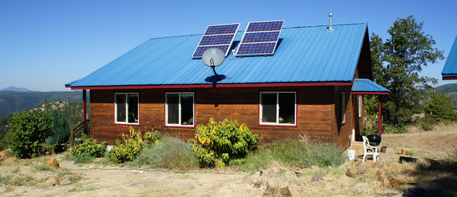 Off-Grid Straw Bale Home, Northern California
