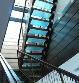 hgtv san francisco glass staircase
