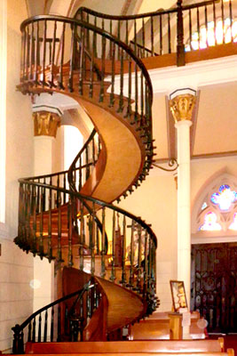 Santa fe's famous spiral staircase