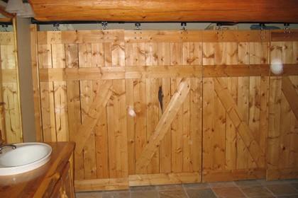 log-home-custom-closet-doors