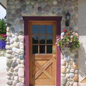log home recycled door