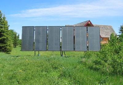 log-home-solar-thermal-panels