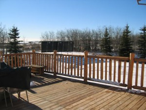 Our Solar Thermal panels as seen from the finished deck