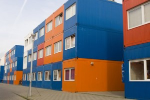 shipping container apartment building