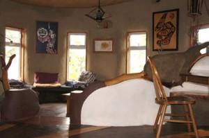 Cob home living room